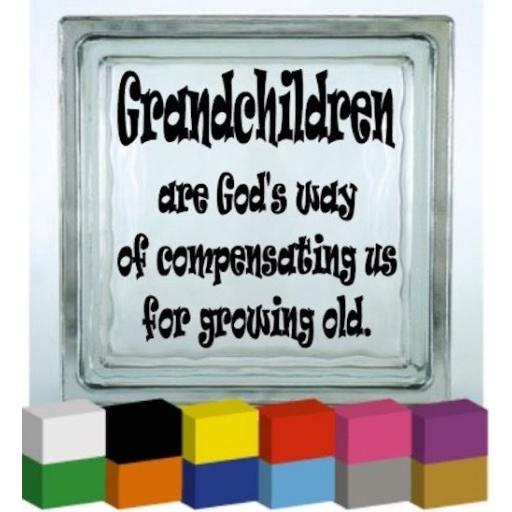Grandchildren Vinyl Glass Block / Photo Frame Decal / Sticker / Graphic
