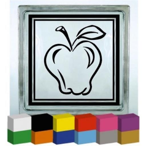 Apple Vinyl Glass Block / Photo Frame Decal / Sticker / Graphic