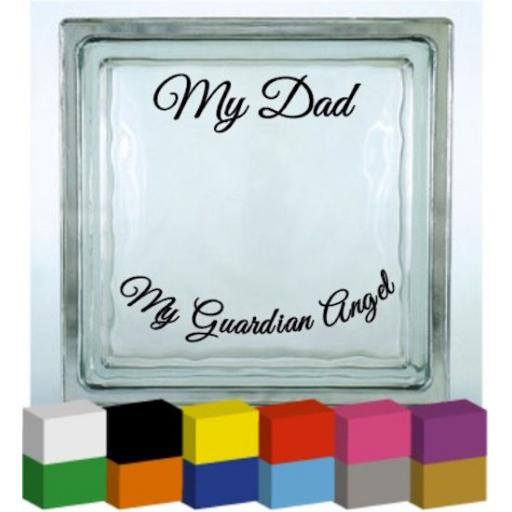 My Personalised, My Guardian Angel Vinyl Glass Block / Photo Frame Decal / Sticker / Graphic