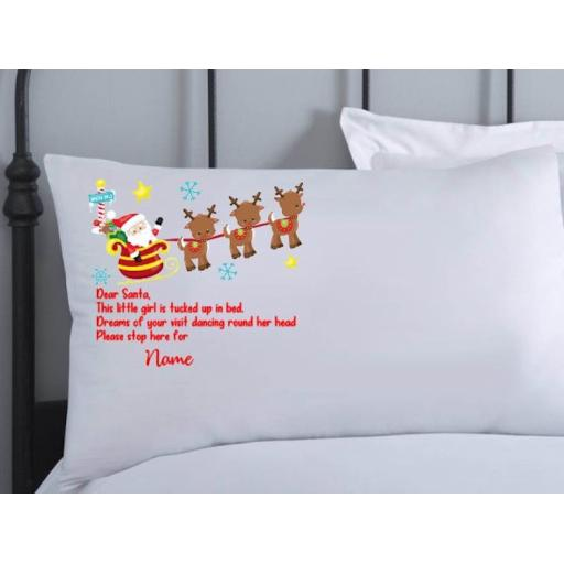 Personalised Christmas Eve Pillowcase Dear Santa