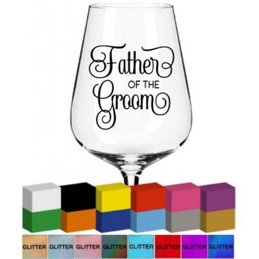 Father of the Groom Glass / Mug Decal / Sticker / Graphic