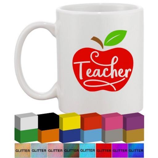 Teacher Apple Glass / Mug Decal / Sticker / Graphic
