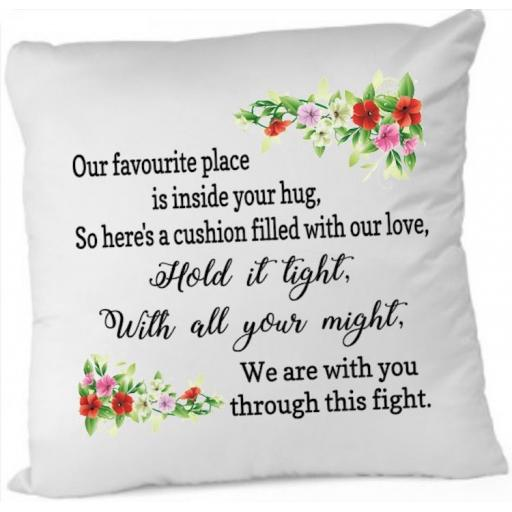 Our favourite place, we are with you through the fight Cushion Cover