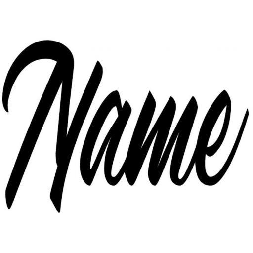Name in Heat Transfer Vinyl