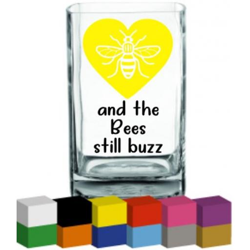 and the Bees still buzz Vase Decal / Sticker / Graphic