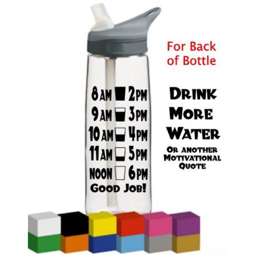 Gym Motivational Bottle Vinyl Sticker Decal / Graphic