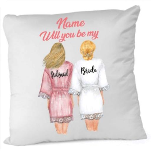 Will you be my Bridesmaid Cushion Cover