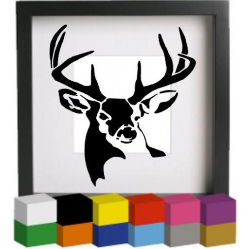 Buck Deer Vinyl Glass Block / Photo Frame Decal / Sticker / Graphic