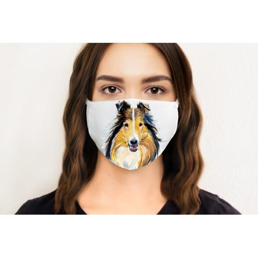 Collie Dog Face Mask