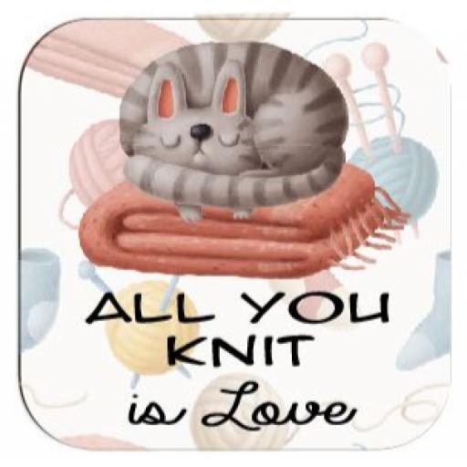 All you Knit is Love Coaster