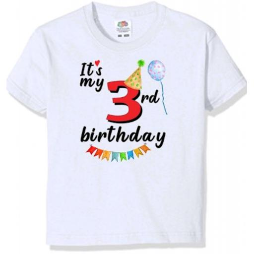 It's my number birthday Printed Kid's T-shirt