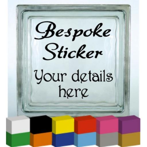 Bespoke Vinyl Glass Block / Photo Frame Decal / Sticker/ Graphic