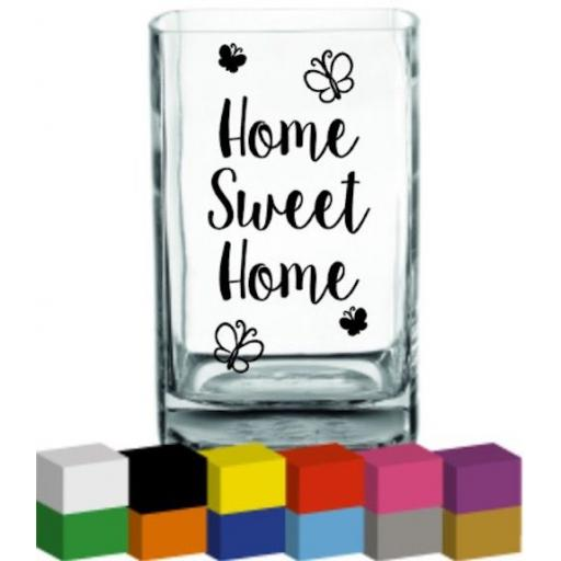 Home Sweet Home Vase Decal / Sticker / Graphic
