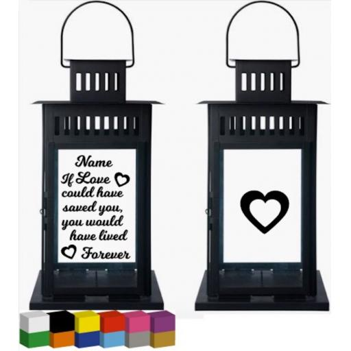 If love could have saved you personalised Lantern Decal / Sticker / Graphic