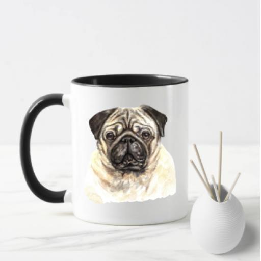 Pug V2 Dog Mug