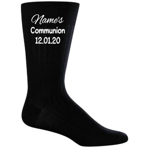 Communion Sock Personalised Heat Transfer Vinyl ONLY