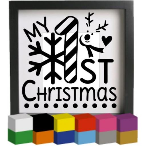 My First Christmas Vinyl Glass Block / Photo Frame Decal / Sticker / Graphic