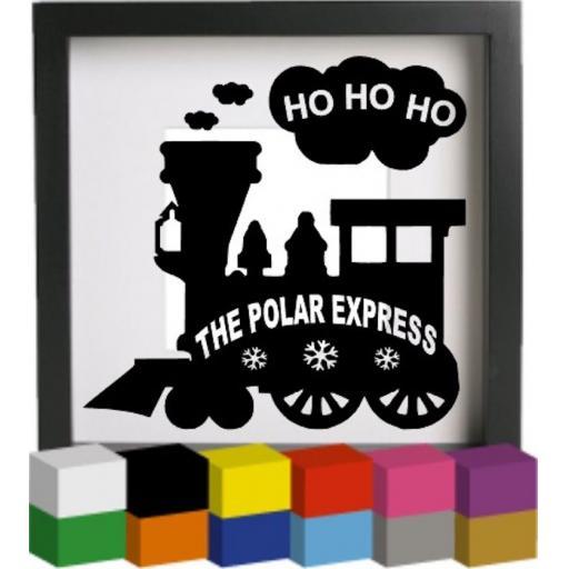 The Polar Express Vinyl Glass Block / Photo Frame Decal / Sticker / Graphic