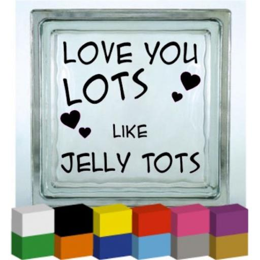 Love You Lots Vinyl Glass Block / Photo Frame Decal / Sticker / Graphic