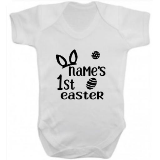 Name's 1st Easter Short Sleeved Body Suit
