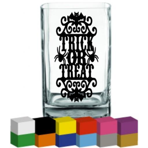 Trick or Treat Vase Decal / Sticker / Graphic