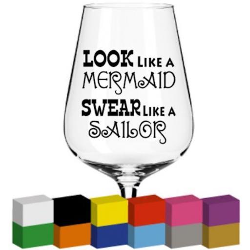 Look like a Mermaid Glass / Mug / Cup Decal / Sticker / Graphic
