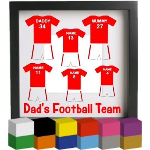 Football Team Family Vinyl Glass Block / Photo Frame Decal / Sticker / Graphic