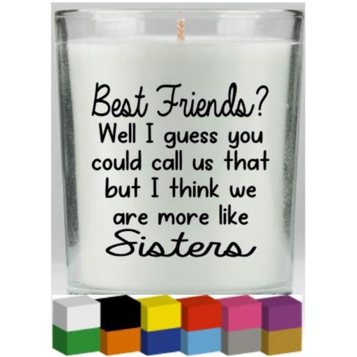 Best Friends Candle Decal / Sticker / Graphic