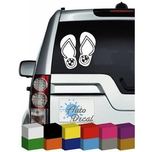 Flip Flop BMW Vinyl Car, Van, 4x4 Decal / Sticker / Graphic