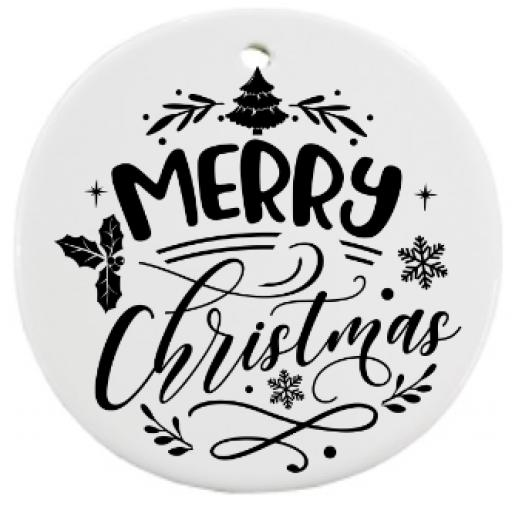 Merry Christmas V2 Bauble Sticker / Decal / Graphic