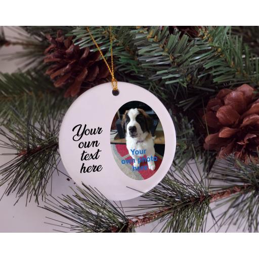 Personalised Ceramic Christmas Ornament / Bauble
