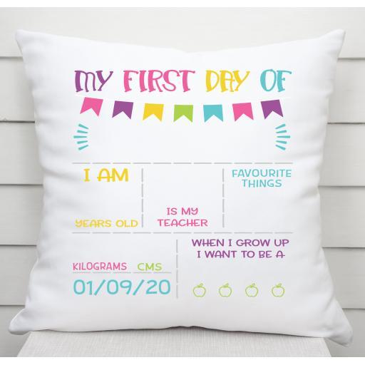 My First day of School / Nursery Cushion Cover