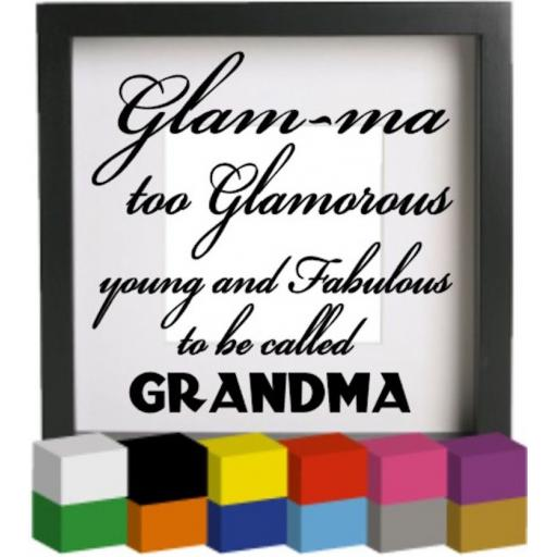 Glam ma V3 Vinyl Glass Block / Photo Frame Decal / Sticker / Graphic