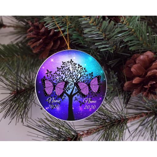 Memorial Personalised Ceramic Christmas Ornament / Bauble