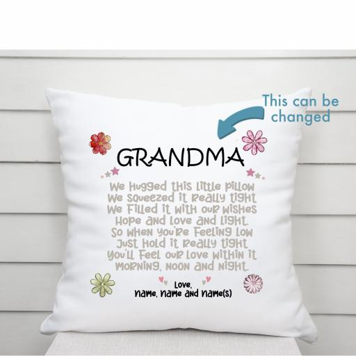 We hugged this cushion personalised V2 Cushion Cover