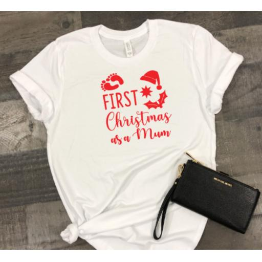 First Christmas as a Mum Heat Transfer Vinyl