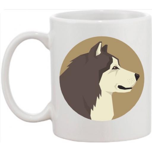 Alaskan Malamute Head Dog Mug
