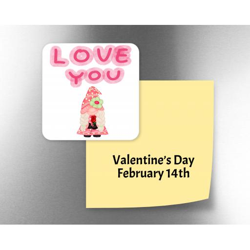 Love You Female Gnome Fridge Magnet