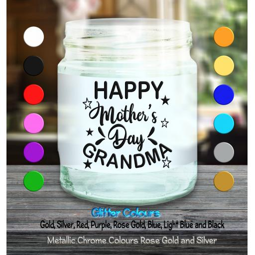 Happy Mother's Day Grandma Candle Decal / Sticker / Graphic