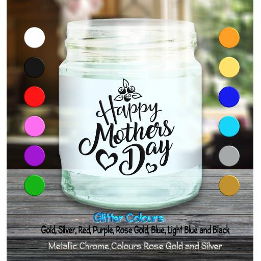 Happy Mothers Day Candle Decal / Sticker / Graphic