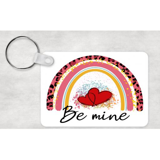 Be Mine Rainbow Keyring