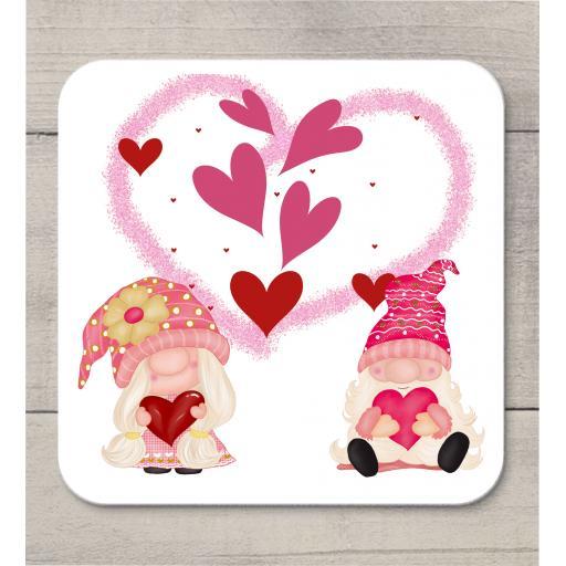 Valentine Gnome Coaster