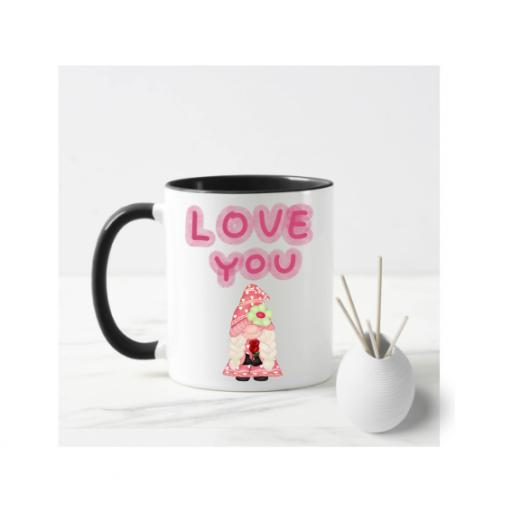 Love You Female Gnome Mug