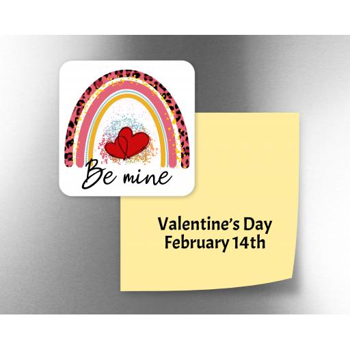 Be Mine Rainbow Fridge Magnet