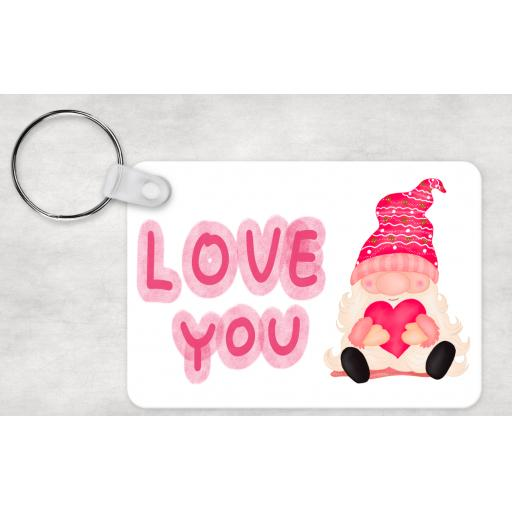 Love You Male Gnome Keyring