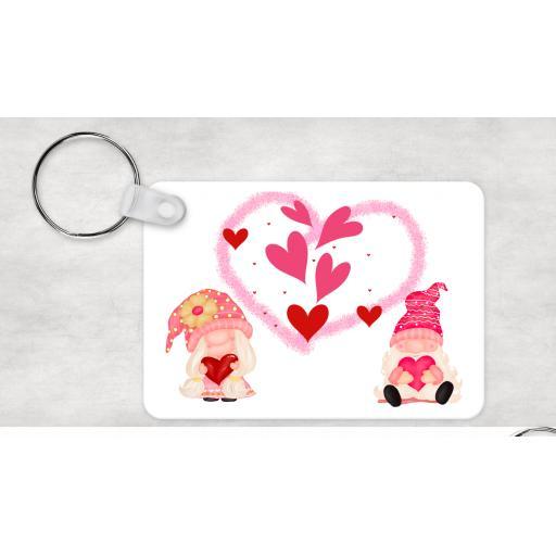 Valentine Gnome Keyring