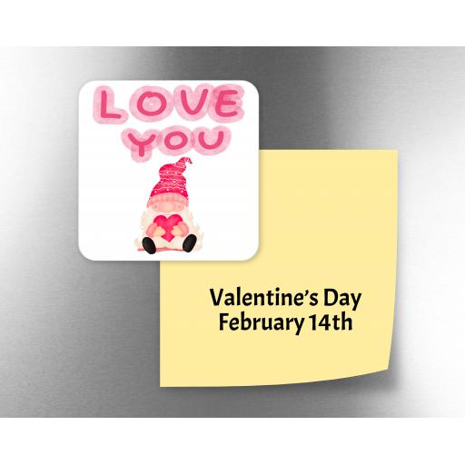 Love You Male Gnome Fridge Magnet