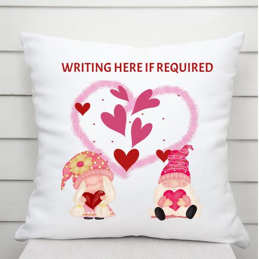 Customised Valentine Gnome Cushion Cover
