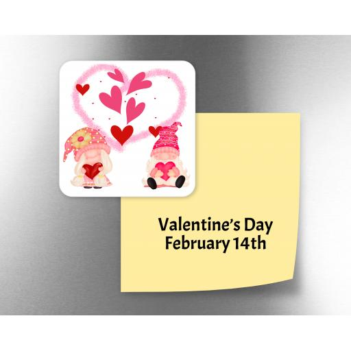 Valentine Gnome Fridge Magnet
