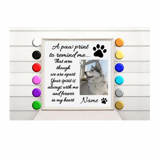 A paw print to remind me... Vinyl Glass Block / Photo Frame Decal / Sticker/ Graphic